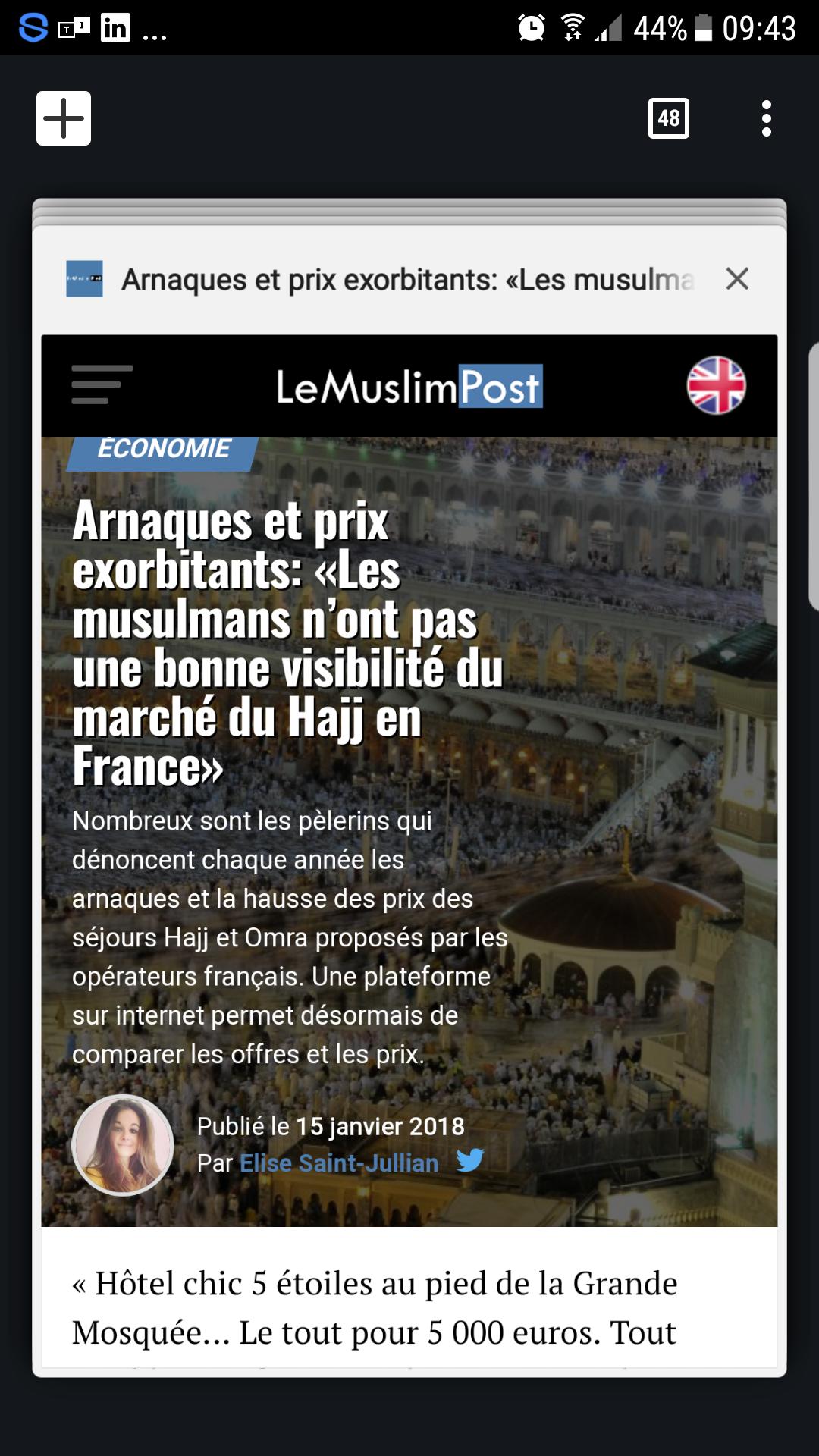 ARTICLE SUR LE MUSLIM POST
